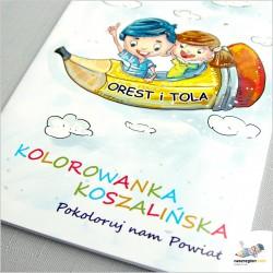 Koszalin Manowo Polanów Mielno Będzino – Kolorowanka bajka rysunkowa, turystyczna dla rodzin i dzieci - coloring book story.
