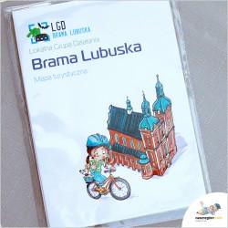 MAPA - Lokalna Grupa Działania -LGD Brama Lubuska - Świebodzin - mapa rysunkowa, turystyczna dla rodzin i dzieci