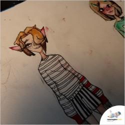 Charakterki - Rysunek grafika okolicznościowa drawing cartoon characters sketches artworks design