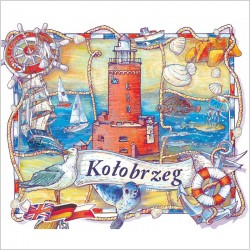 Kołobrzeg - rysunkowa mapa turystyczna dla dzieci i rodzin