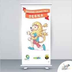 """Dębno – logo i rollup dla ,,Biegowe Grand Prix Dębna"""" od Nasz Region!"""